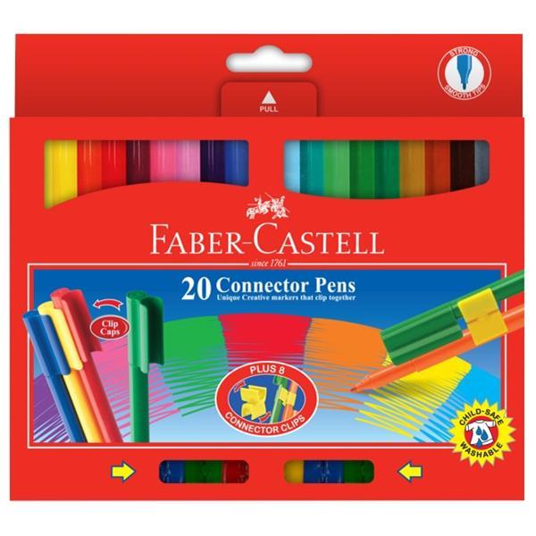 67807ecc6 Faber-Castell Felt Tip Connector Pens Assorted Colours, Pack of 20 |  OfficeMax NZ