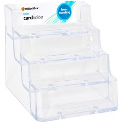 Carl business card file box a z index 600 card capacity officemax nz officemax 70841 business card holder free standing 4 tier reheart