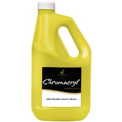 Chromacryl Student Acrylic Paint 2 Litre Cool Yellow
