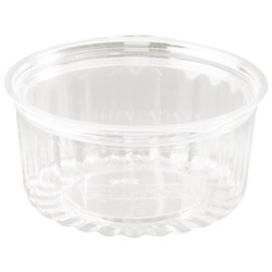 Plastic Food Containers With Lid 341ml, Carton of 250