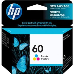 HP 60 Tri Colour Ink Cartridge CC643WA