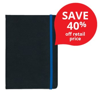 Debden A5 Vauxhall Contrast Journal Notebook Black/Navy 192 Pages