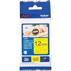 Brother TZE631S P-Touch Labelling Tape 12mm Black on Yellow