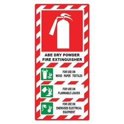 ABE Dry Powder Fire Extinguisher Safety Sign