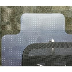 OfficeMax Chairmat Small Keyhole 925x1200mm Clear