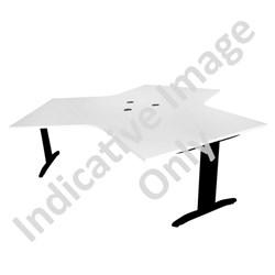 Balance Angle 3 Way Workstation Pod 1200mm Snowdrift/Black