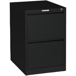 Precision Filing Cabinet 2 Drawer Vertical Black Texture