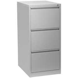 Firstline Filing Cabinet 3 Drawer Vertical Silver Grey