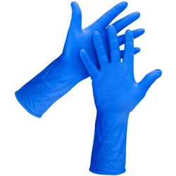 Eagle Diamond Texture Nitrile Gloves 300mm Large Blue, Carton of 500