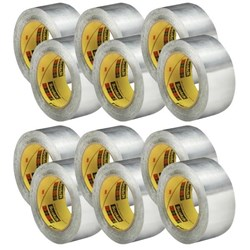 Scotch® 425 Aluminium Foil Tape 50mm x 55m, Carton of 12