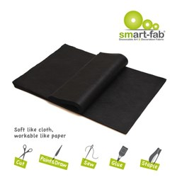 Smart-Fab Fabric 30x45cm Black, Pack of 45