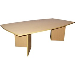 Accord Boardroom Table Bow End Shape 2400mm Tawa
