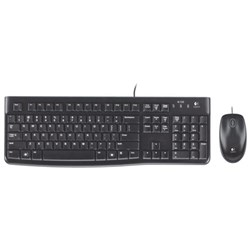 Logitech MK120 Wired Keyboard & Mouse Desktop Set