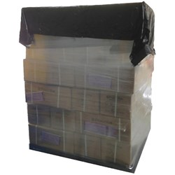 Pallet Covers High Density 1680mm x 1680mm 18 Micron Black, Carton of 250