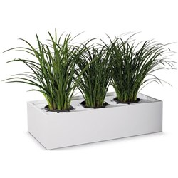 Strata 2 Planter Box 1200mm Satin White Plain