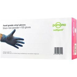 77e4d58720d06 Selfgard Vinyl Disposable Gloves Low Powder Blue, Carton of 1000