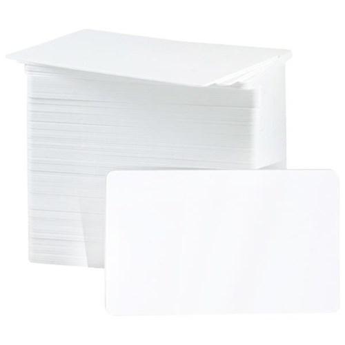 250 BLANK PLASTIC WHITE PHOTO NAME ID CREDIT CARD PVC CR80 30MIL BRAND NEW