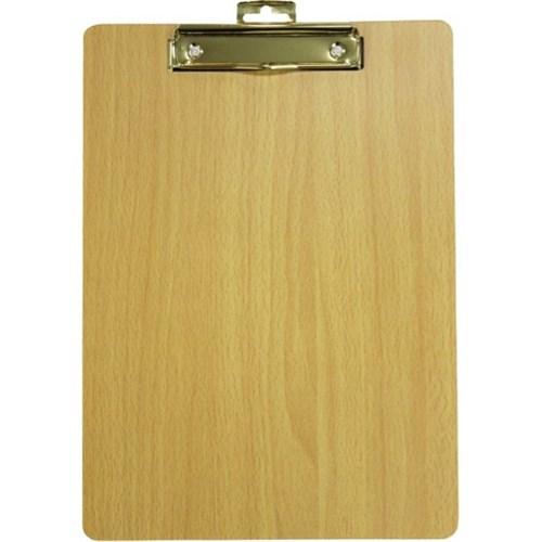 gbp wooden clipboard wire metal clip a4 officemax nz