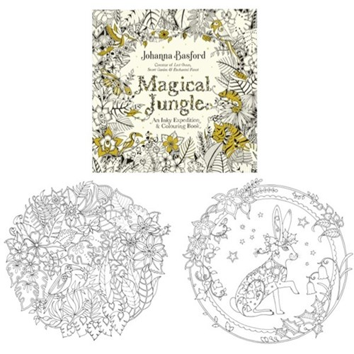 Magical Jungle Adult Colouring Book 80 Pages OfficeMax NZ Johanna Basford