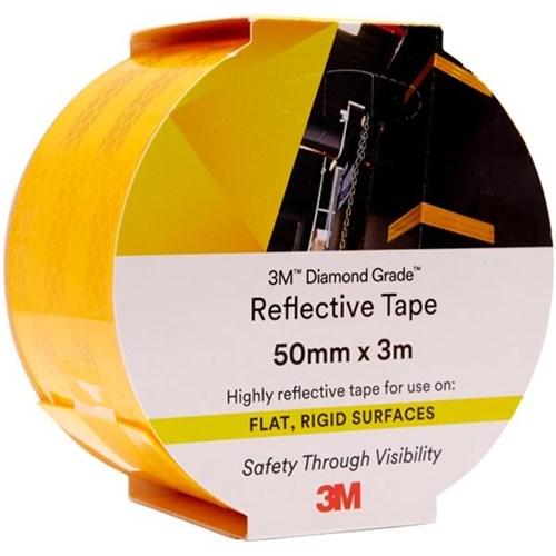 3M™ Diamond Grade Reflective Tape 50mm x 3m Yellow