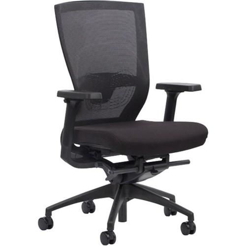 venture synchron chair mesh back lumbar support black black nylon