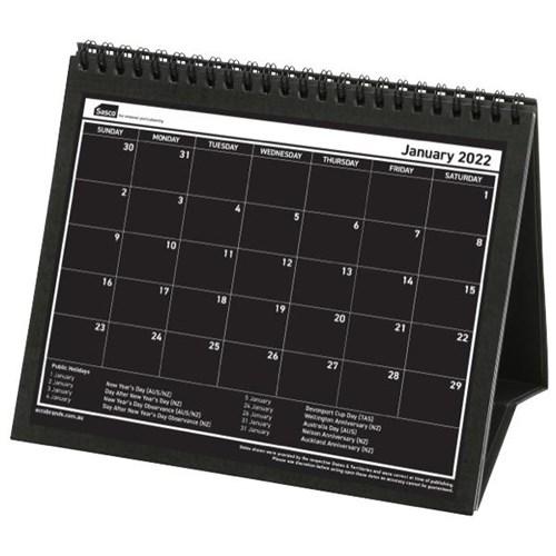 Sasco Desk Tent Calendar 1 Month To A Page 2020 Black/White