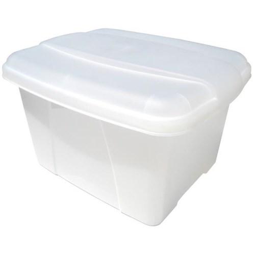 Marbig Office In A Box Plastic Filing Box Lid Clear OfficeMax NZ