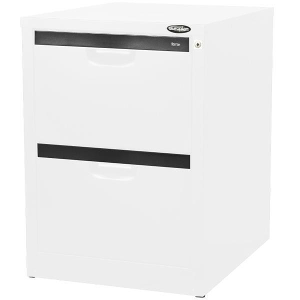 europlan 2 drawer under desk filing cabinet arctic white officemax nz. Black Bedroom Furniture Sets. Home Design Ideas