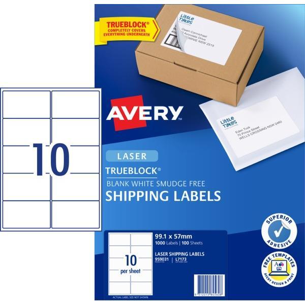 Avery quick peel laser labels l7173 white 10 per sheet officemax nz avery shipping laser labels l7173 white 10 per sheet zoom avery saigontimesfo