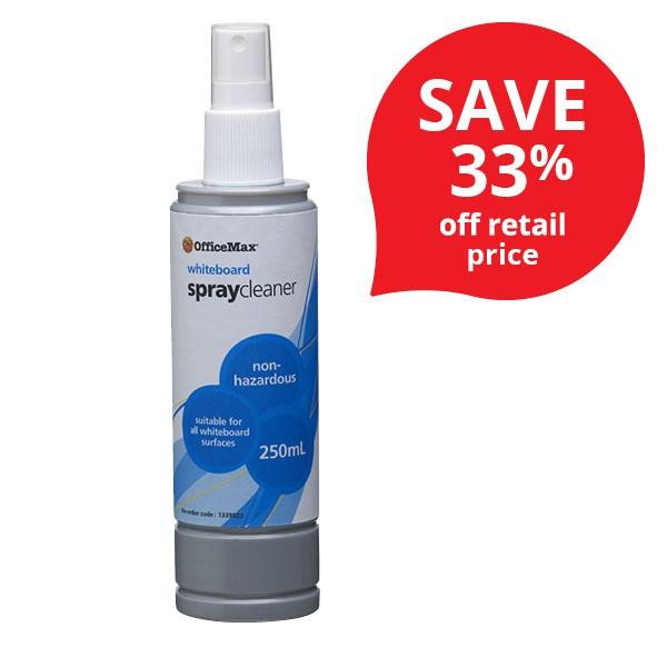 Officemax Whiteboard Spray Cleaner 250ml Officemax Nz