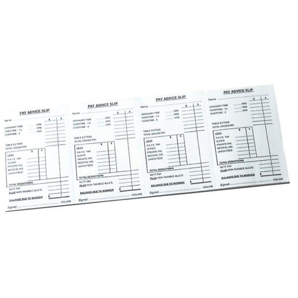 Collins Pay Advice Quad Pad 200 Slips | OfficeMax NZ