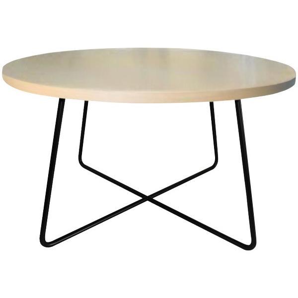 Criss Cross Coffee Table 600mm Black Coastal Elm Wilderness Officemax Nz