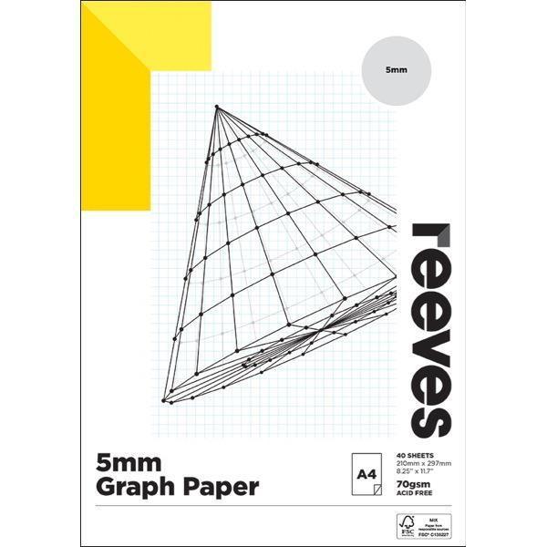 pad graph reeves 5mm 70gsm a4 fsc mix credit 40 sheets