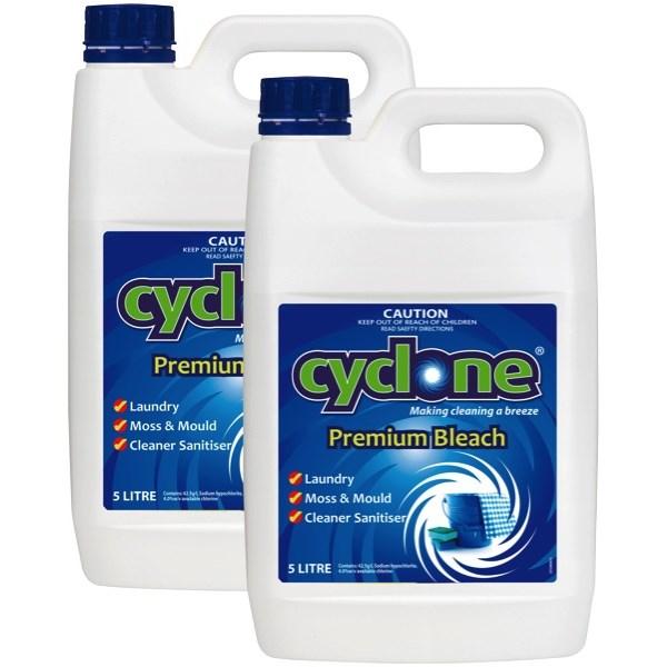Cyclone Premium Bleach 5 Litre Carton Of 2