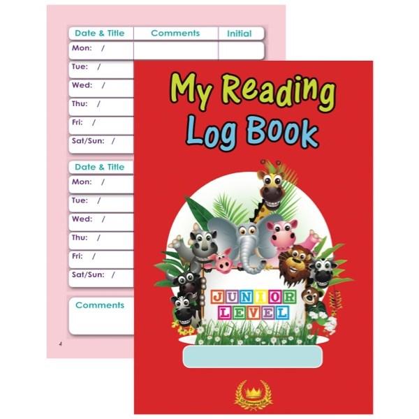 my reading log book junior level zoom prev