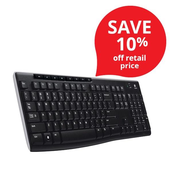 logitech k270 wireless keyboard officemax nz. Black Bedroom Furniture Sets. Home Design Ideas
