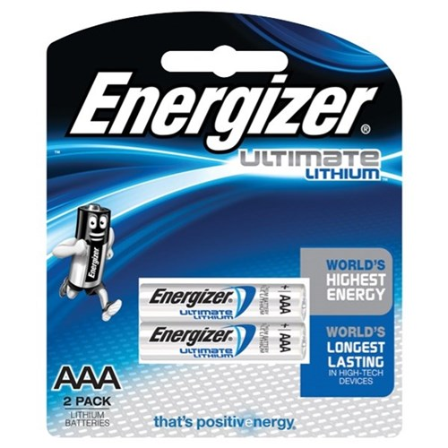 Energizer Ultimate Lithium AAA Batteries, Pack of 2