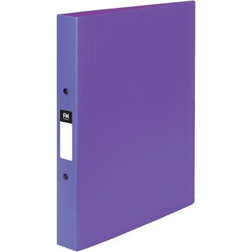 FM Vivid Ringbinder A4 2 Ring 25mm Purple