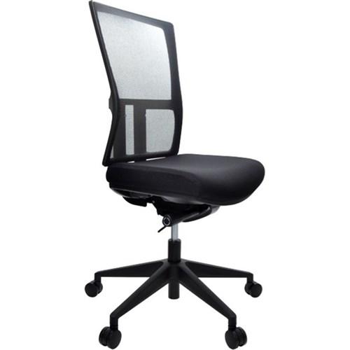 Kona Synchro Chair Mesh Back Fabric Seat Black Officemax Nz