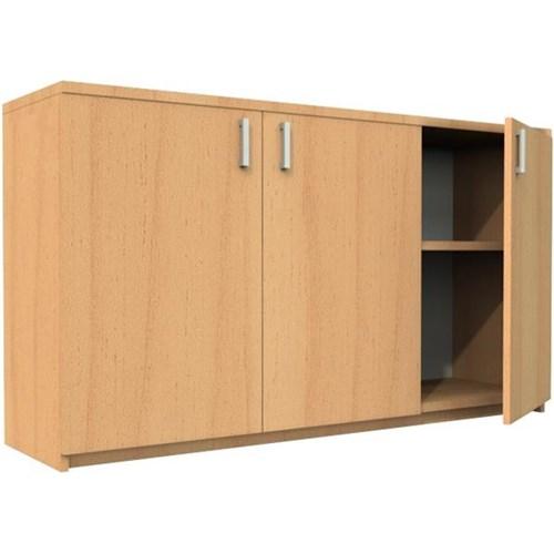 Urban Credenza Hinged Doors 1500mm Tawa Officemax Nz